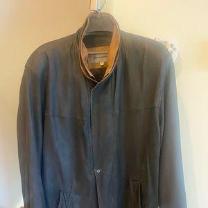 Johnston & Murphy lightweight lamb double collar men's jacket (size 44)